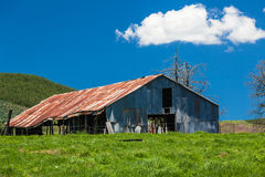 Farm Large Barn Green Blue Stock Images