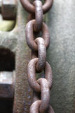 Large rusty metal chain Royalty Free Stock Photo
