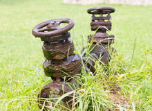 Large rusty old valve Royalty Free Stock Photo