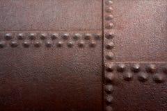 Large rusty rivets Royalty Free Stock Photo