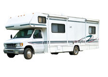 Large RV Isolated on White Royalty Free Stock Photo