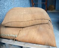 Large Sacks of Rice Royalty Free Stock Photo
