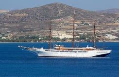 Large sail cruiser royalty free stock photography