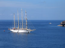 Large sailing boat. In the Similan Islands of Thailand Stock Photos