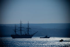 Large sailing ship Stock Photo