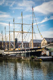 Large sailing ship in Bristol harbour Royalty Free Stock Image