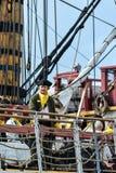 The large sailing ship East Indiaman Royalty Free Stock Image