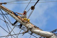 The large sailing ship East Indiaman Royalty Free Stock Photography
