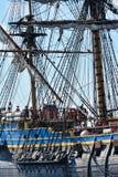 The large sailing ship East Indiaman Stock Photo