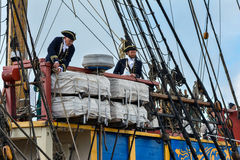 The large sailing ship East Indiaman Royalty Free Stock Images