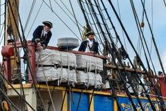 The large sailing ship East Indiaman Royalty Free Stock Images