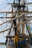 The large sailing ship East Indiaman Stock Images