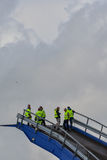 The large sailing ship East Indiaman Stock Images