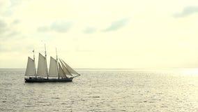 Large sailing ship stock video