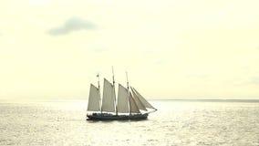 Large sailing ship stock footage