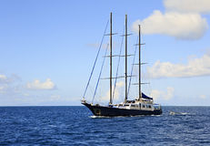 Large sailing yacht in the Indian Ocean Stock Photography