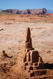 Large sand castle Stock Images