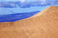 Large Sand Dune Death Valley National Park Stock Image