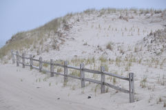 Large sand dunes on the New Jersey coast. Large sand dunes on the beach on the New Jersey coast Stock Photography