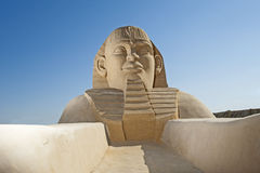 Free Large Sand Sculpture Of The Great Egyptian Sphinx Royalty Free Stock Images - 37272069