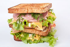 Large Sandwich with Meat and Veg Royalty Free Stock Image