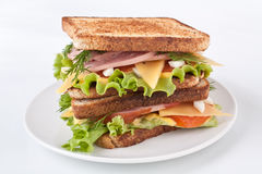 Large Sandwich with Meat and Veg Stock Photos