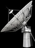 Large satellite dish parabolic antenna designed for transatlanti Stock Image