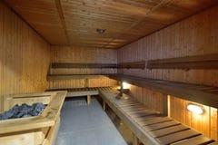 A large sauna Stock Images