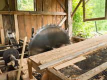 Large Saw blade in saw mill Stock Photography