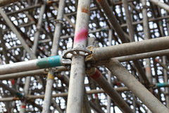 Large scaffolding joints Stock Images