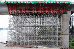 Large scaffolding. Metro construction Stock Photo