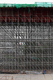 Large scaffolding. Metro construction Royalty Free Stock Images