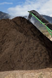 Large Scale Compost Pile Royalty Free Stock Images