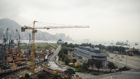 Large-scale construction in the city Royalty Free Stock Photos