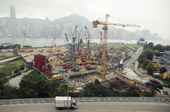 Large-scale construction in the city Stock Images
