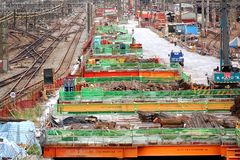 Large Scale Construction Project Stock Image