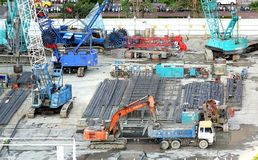 Large Scale Construction Site Stock Image