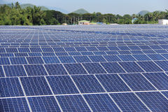 Large Scale On-ground Solar PV Power Plant Royalty Free Stock Photography