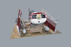 Large scale model aircraft disassembled Stock Images