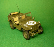 Large-scale model of the military Willys car Stock Image
