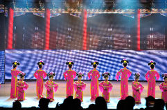 Large scale multimedia panoramic dance epic Dreaming Back to the Old Summer Palace Royalty Free Stock Photo