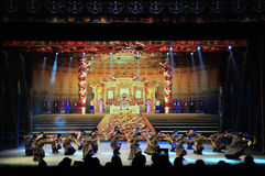 Large scale multimedia panoramic dance epic Dreaming Back to the Old Summer Palace Stock Image