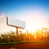 Large-scale outdoor billboards. Evening, the outdoor blank billboards stock photos