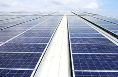 Large Scale Rooftop Solar PV System Royalty Free Stock Image