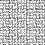 Large scale seamless maze pattern royalty free stock photography