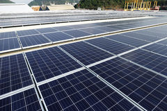 Large Scale Solar PV Rooftop Stock Photography