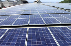 Large Scale Solar PV Rooftop System Stock Photography
