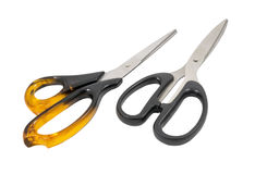The large scissors, isolated image Stock Image