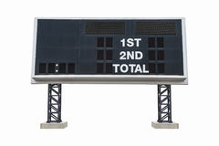 Large Scoreboard isolated on white background. with clipping pat Royalty Free Stock Photos