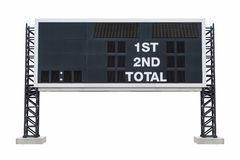 Large scoreboard stadium. with clipping path Stock Photography